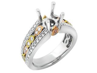 jewellery designs 18k tri color gold
